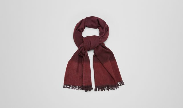 SCARF IN AMARANTH ORANGE WOOL CASHMERE