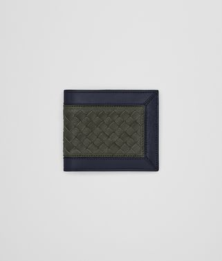 BI-FOLD WALLET IN DARK SERGEANT DARK NAVY NERO INTRECCIATO CALF