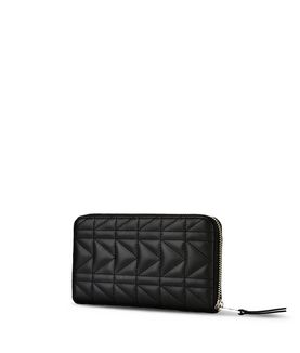 KARL LAGERFELD K/KUILTED ZIP AROUND WALLET