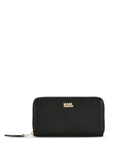 KARL LAGERFELD K/GRAINY ZIP AROUND WALLET