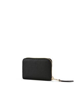 KARL LAGERFELD K/GRAINY SMALL ZIPPED WALLET