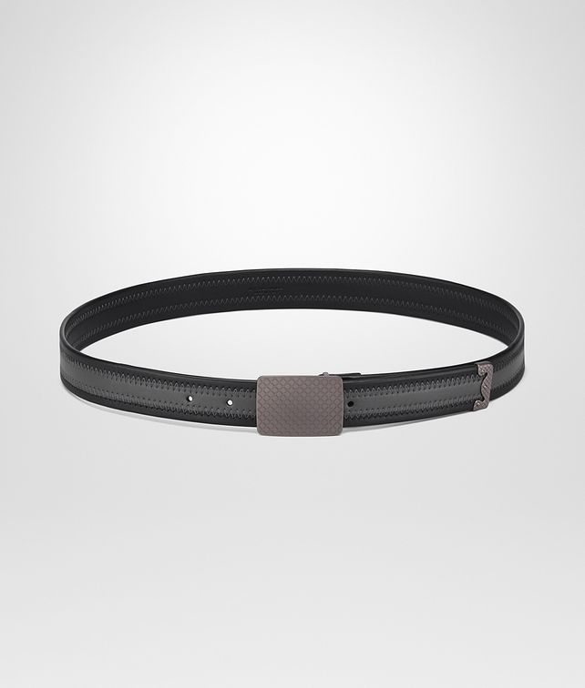 BOTTEGA VENETA BELT IN NERO ARDOISE NAPPA LEATHER Belt U fp
