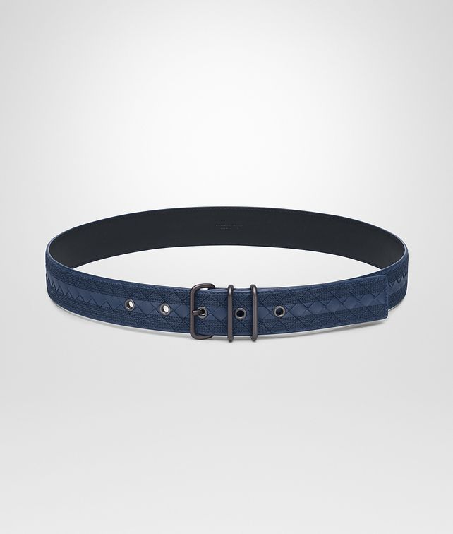BOTTEGA VENETA BELT IN PACIFIC INTRECCIATO NAPPA, EMBROIDERED DETAILS Belt Man fp