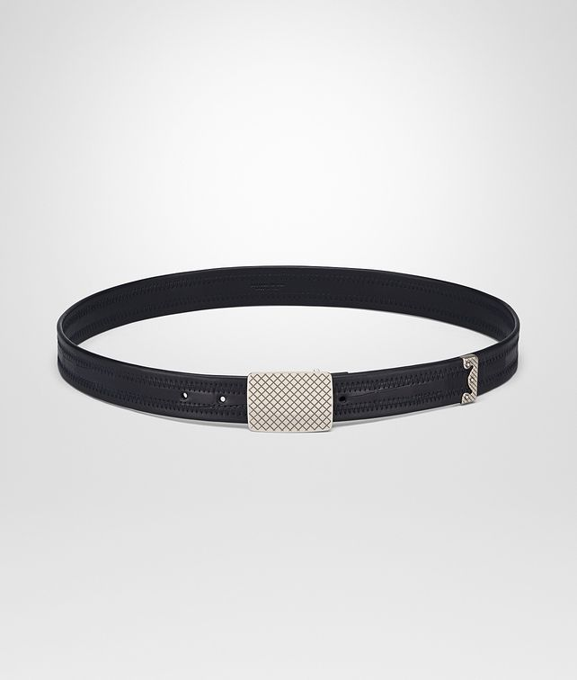 BOTTEGA VENETA BELT IN TOURMALINE NAPPA LEATHER CROCODILE Belt Man fp