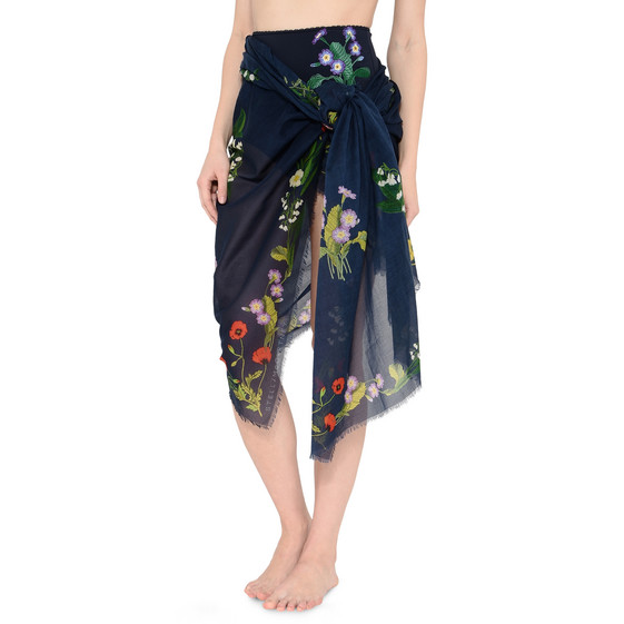 Botanical Embroidered Sarong