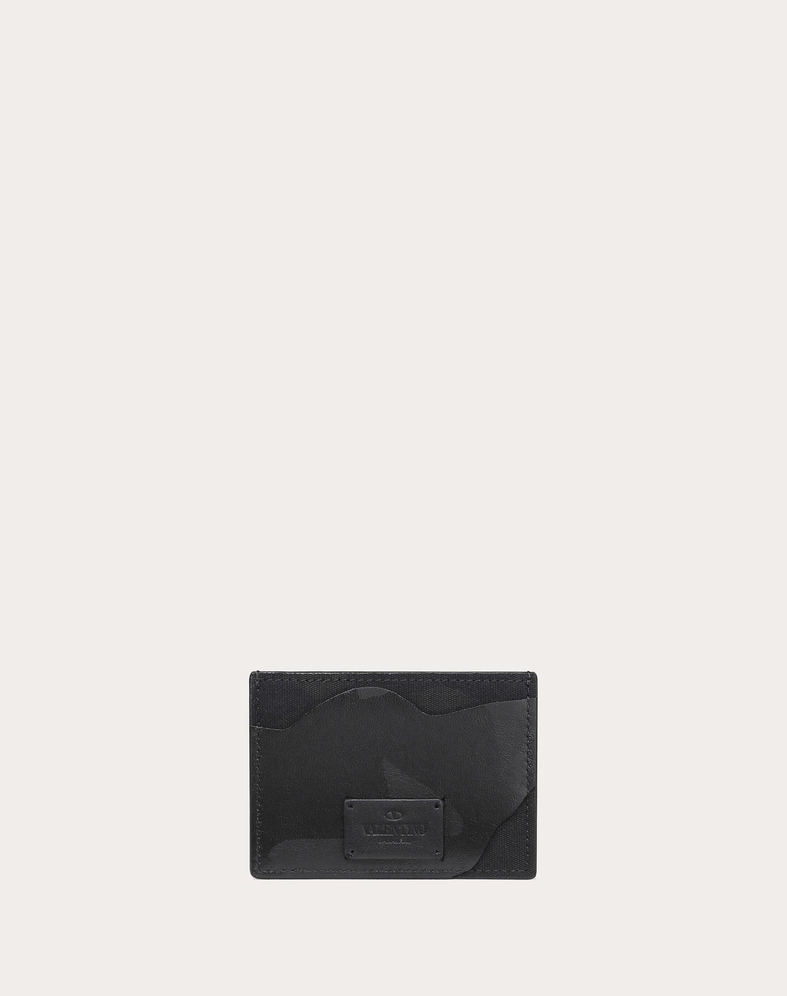 VALENTINO GARAVANI UOMO Camouflage Noir Cardholder COIN PURSES & CARD CASES U d