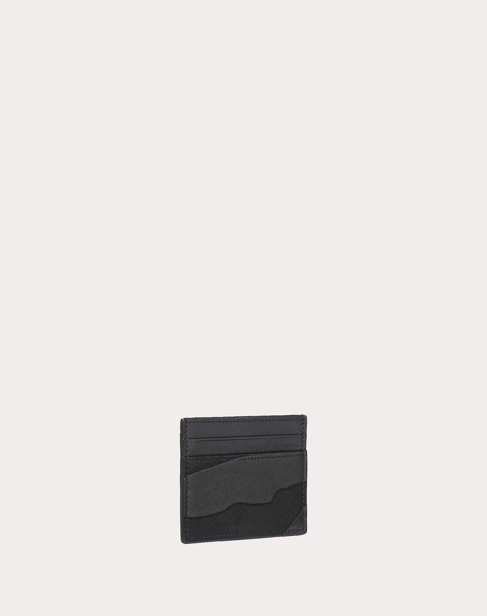 VALENTINO GARAVANI UOMO Camouflage Noir Cardholder COIN PURSES & CARD CASES U r