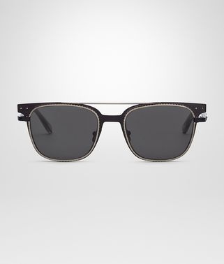 SUNGLASSES IN BLACK METAL , GREY LENSES