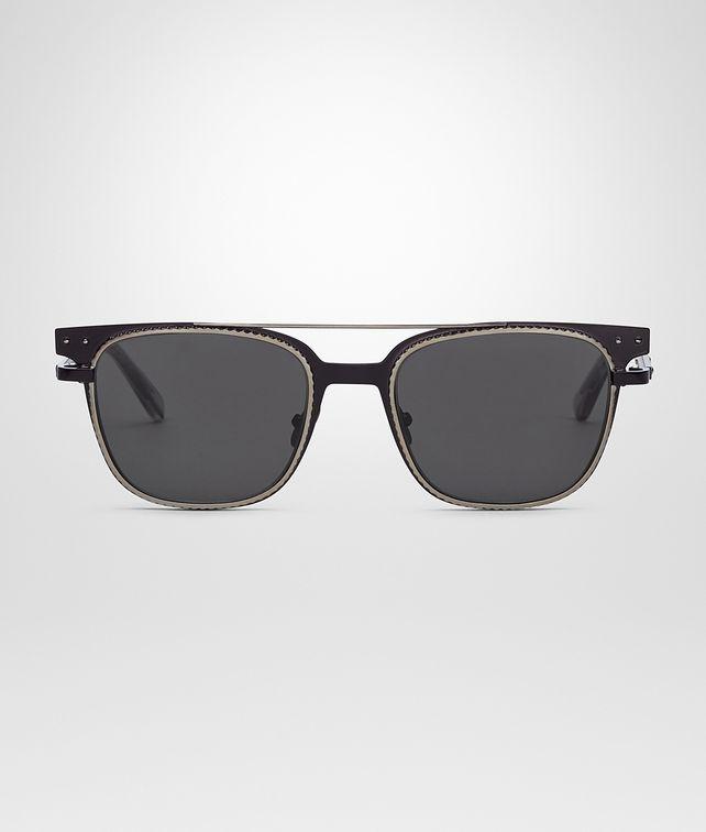 BOTTEGA VENETA SUNGLASSES IN BLACK METAL , GREY LENSES Sunglasses Man fp