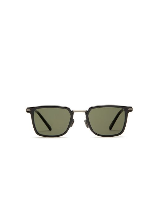Night & Day Shiny Black Retro Square Sunglasses