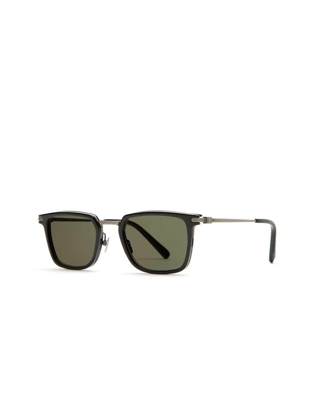 BRIONI Night & Day Shiny Black Retro Square Sunglasses Sunglasses Man r