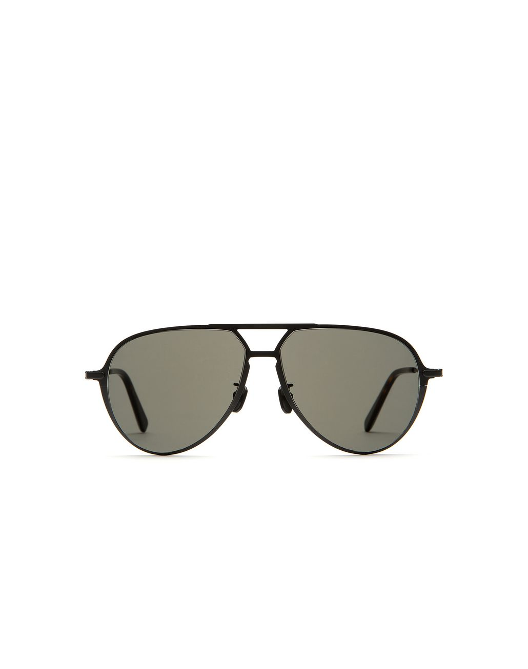 BRIONI Black Titanium Teardrop Sunglasses Sunglasses Man f