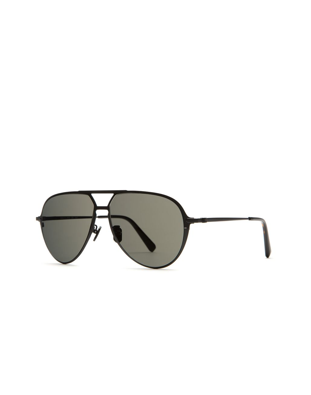 BRIONI Black Titanium Teardrop Sunglasses Sunglasses Man r