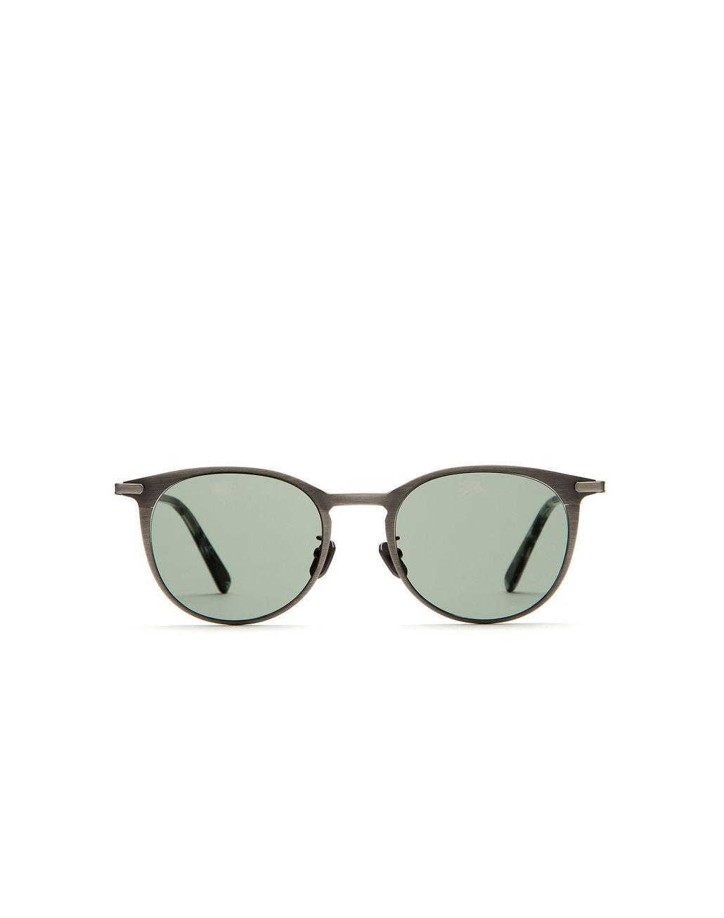 BRIONI Silver Titanium Pantos Sunglasses Sunglasses Man f