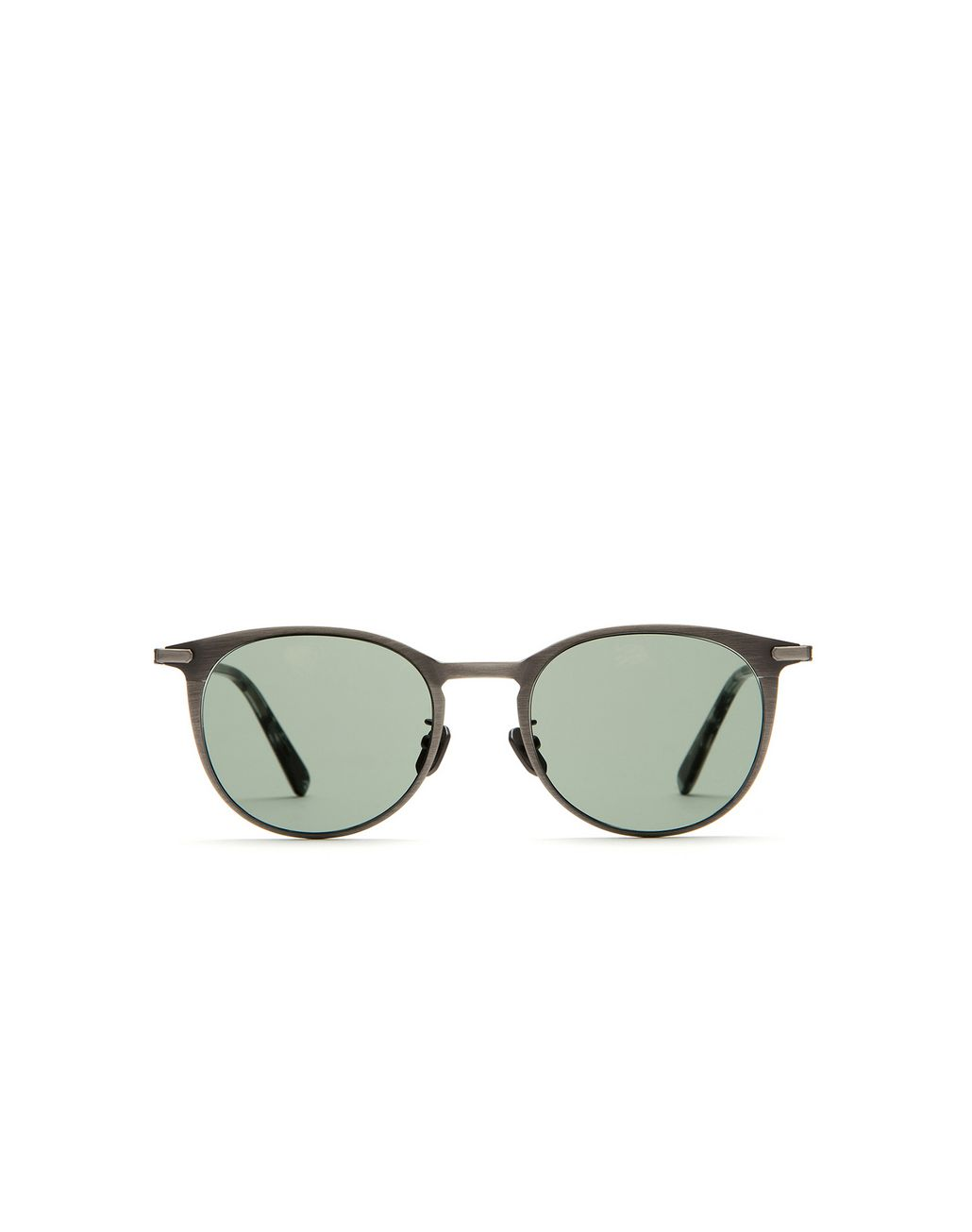 BRIONI Panto-Sonnenbrille in Titansilber Sonnenbrille U f