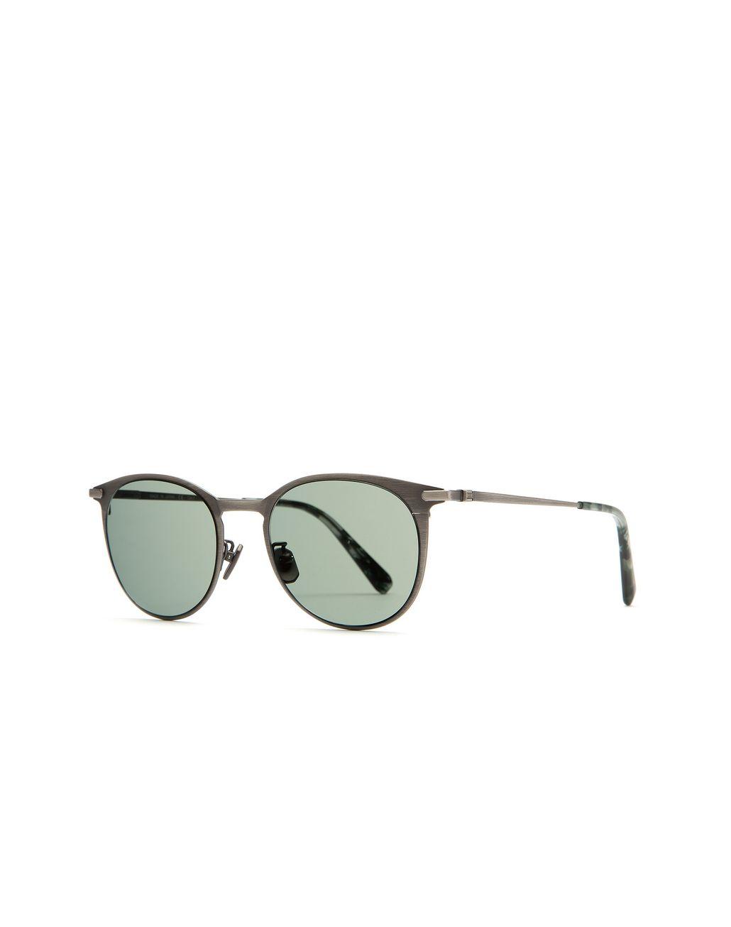 """BRIONI Серебристые титановые солнцезащитные очки формы """"панто"""" Солнцезащитные очки Для Мужчин r"""