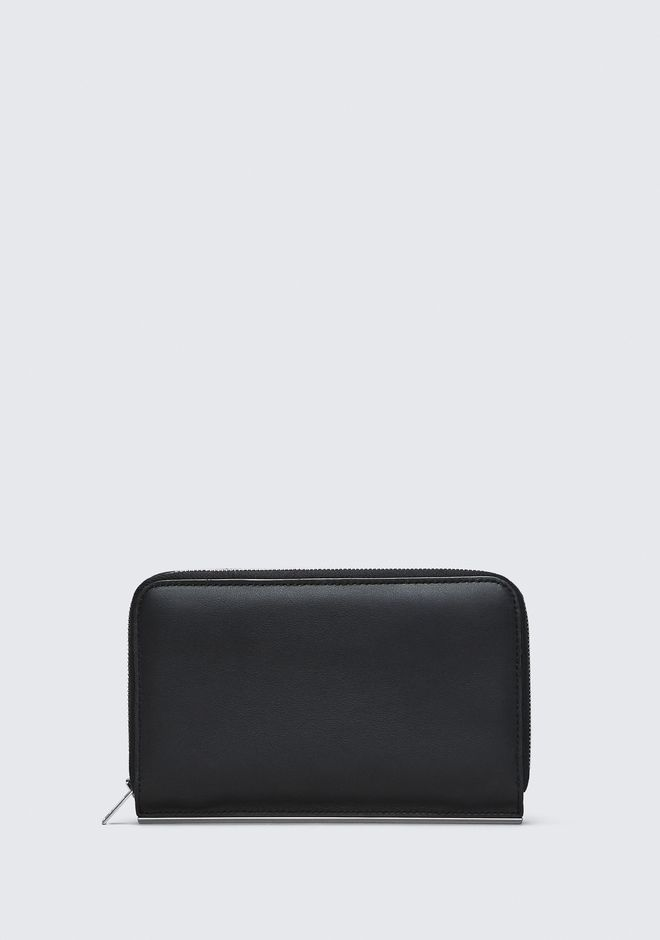 ALEXANDER WANG accessories ROSE EMBOSSED DIME CONTINENTAL WALLET IN BLACK