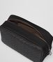 BOTTEGA VENETA TOILETRY CASE IN NERO INTRECCIATO CALF, TECHNICAL CANVAS Other Leather Accessory Man ap