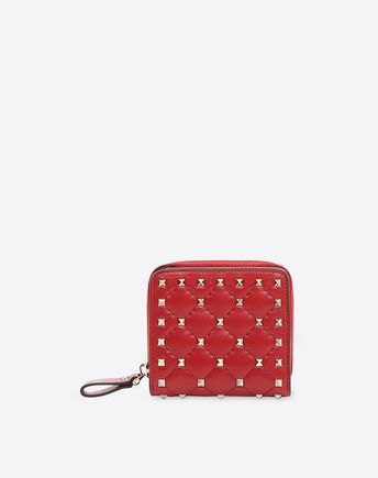 VALENTINO Rockstud Spike Compact Wallet  46508065TN