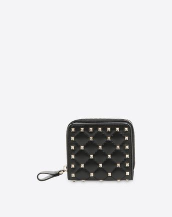 VALENTINO Rockstud Spike Compact Wallet  46508066RF