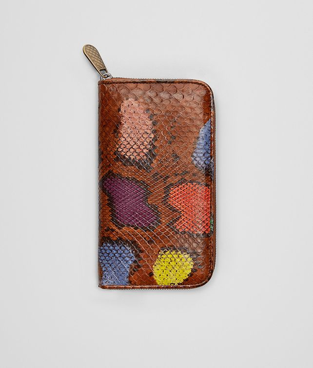 BOTTEGA VENETA ZIP AROUND WALLET IN MULTICOLOR PHYTON Zip Around Wallet Woman fp