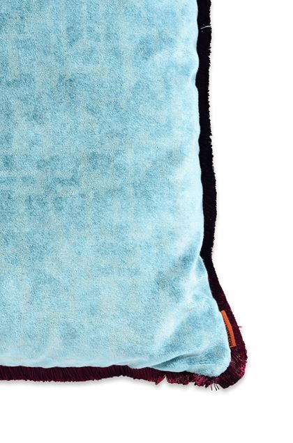 MISSONI HOME TIBET CUSHION  Turquoise E - Front