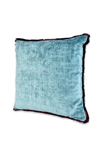MISSONI HOME TIBET CUSHION  Turquoise E - Back