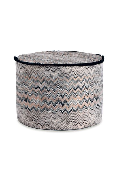 MISSONI HOME THAILAND CYLINDER POUF Black E - Back