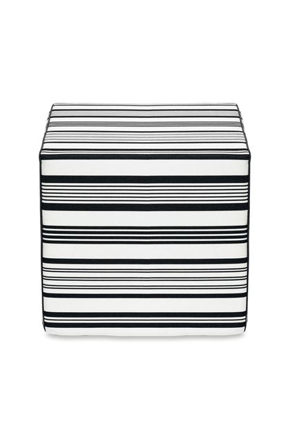 MISSONI HOME RAINBOW CUBE POUF  White E - Back