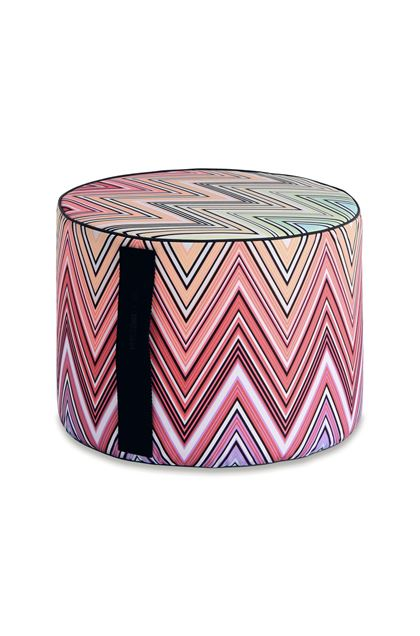MISSONI HOME KEW_OUTDOOR CYLINDER POUF Sky blue E - Back