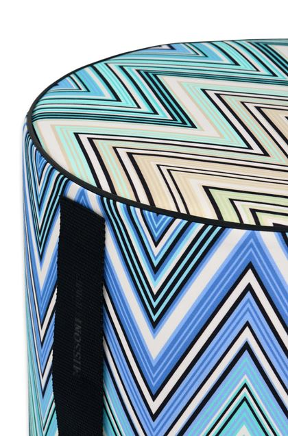 MISSONI HOME KEW_OUTDOOR CYLINDER POUF Blue E - Front