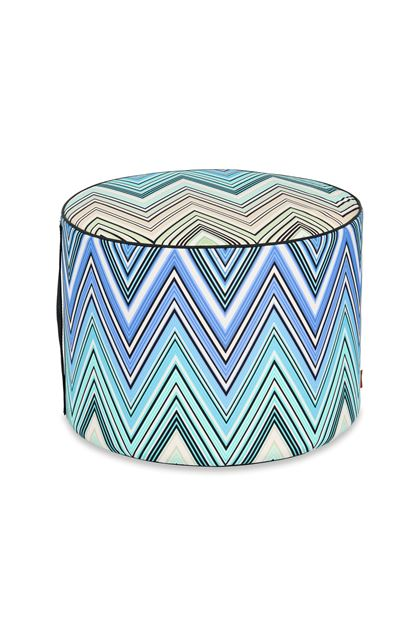 MISSONI HOME KEW_OUTDOOR CILINDRO POUF Blu E - Retro
