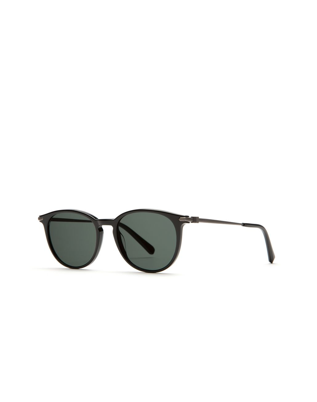 BRIONI Shiny Black Retro Pantos Sunglasses Sunglasses U r