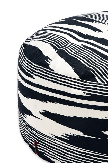 MISSONI HOME NEUSS PALLINA ПУФ-ЦИЛИНДР Слоновая кость E - Передняя сторона