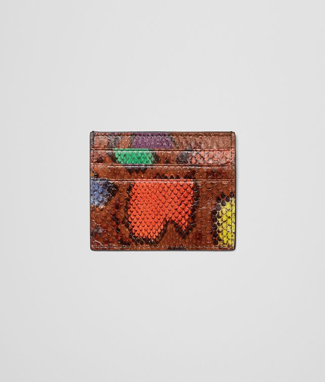 BOTTEGA VENETA CARD CASE MULTICOLOR IN PYTHON Mini Wallet or Coin Purse D fp