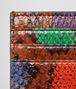 BOTTEGA VENETA CARD CASE MULTICOLOR IN PYTHON Mini Wallet or Coin Purse D dp