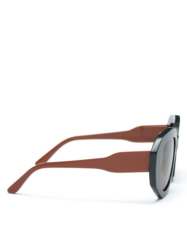 22a3bdb066 ... Marni Marni Ghost Acetate glasses contrast temple Woman - 3