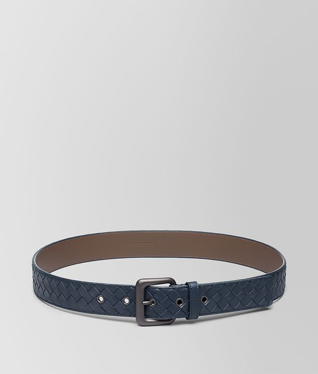 BOTTEGA VENETA DENIM INTRECCIATO BELT Belt Man fp