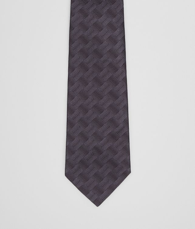 BOTTEGA VENETA TIE IN ANTHRACITE BLACK SILK Tie Man fp