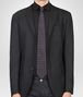 BOTTEGA VENETA TIE IN ANTHRACITE BLACK SILK Tie Man rp