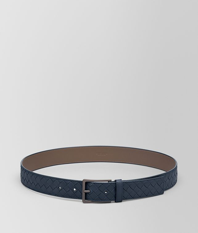 BOTTEGA VENETA DENIM INTRECCIATO BELT Belt [*** pickupInStoreShippingNotGuaranteed_info ***] fp