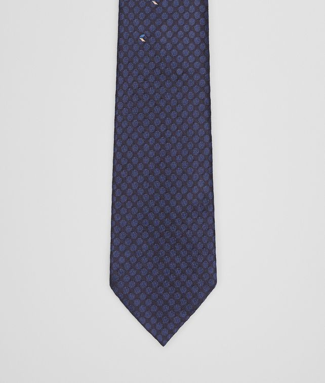 BOTTEGA VENETA TIE IN MIDNIGHT BLUE SILK Tie Man fp