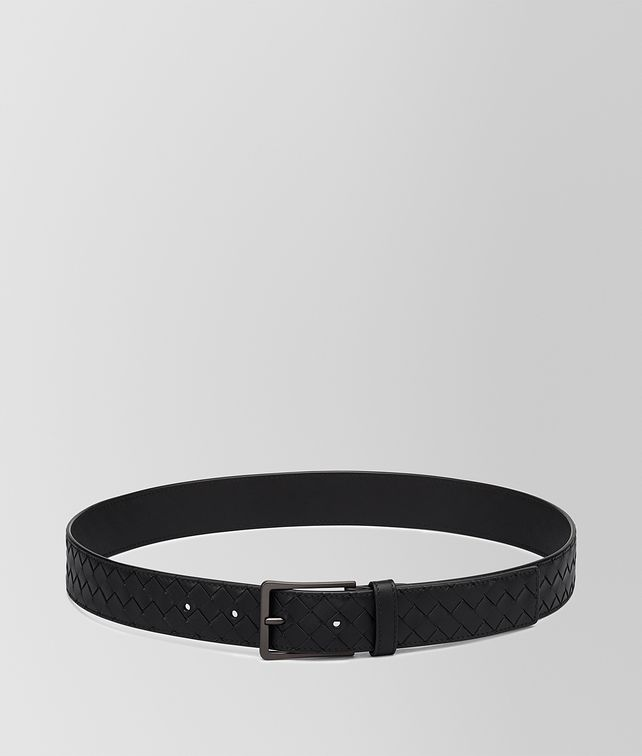 BOTTEGA VENETA BELT IN NERO INTRECCIATO VN Belt Man fp