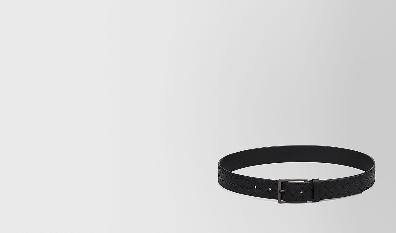 belt in nero intrecciato vn landing