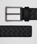 BOTTEGA VENETA BELT IN NERO INTRECCIATO VN Belt Man rp