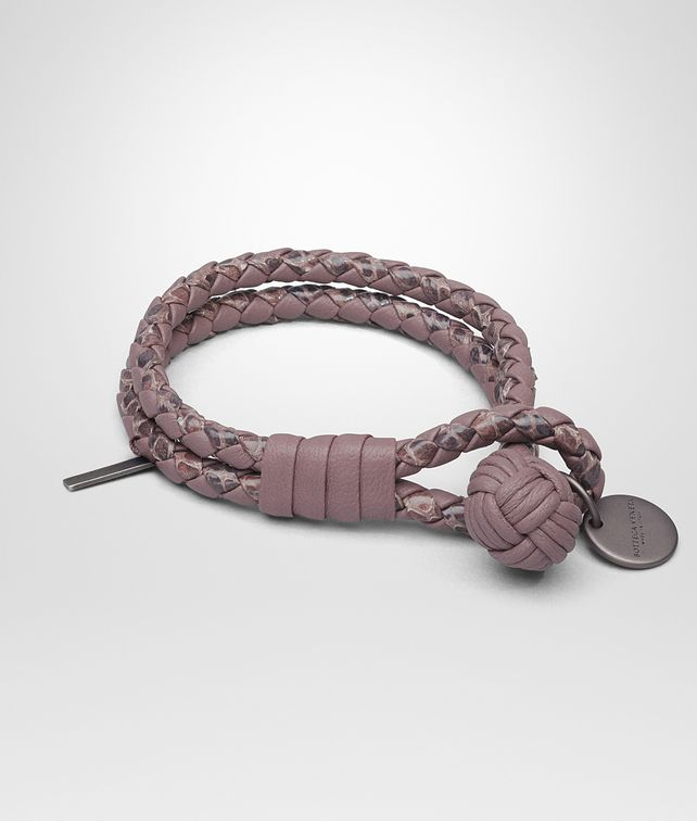 BOTTEGA VENETA BRACELET IN GLICINE INTRECCIATO NAPPA AND AYERS Keyring or Bracelets Woman fp