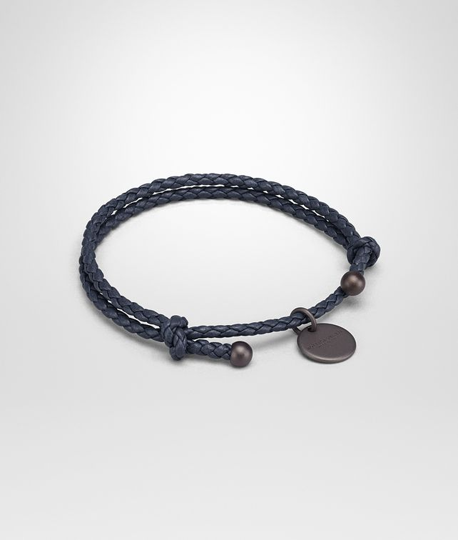 BOTTEGA VENETA BRACELET IN DENIM INTRECCIATO NAPPA Keyring or Bracelets E fp