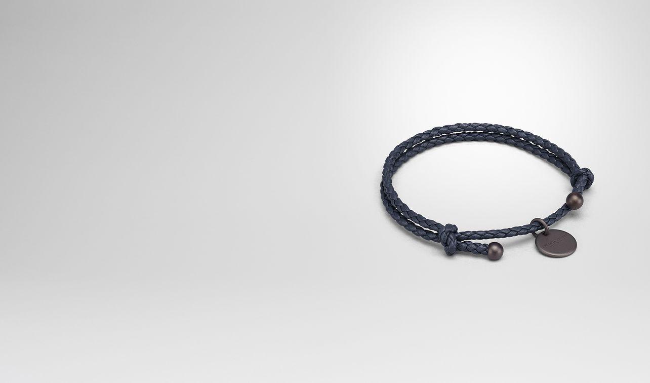Bracelet In Denim Intrecciato Na Leather Landing Bottega Veneta