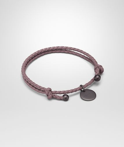 BOTTEGA VENETA Keyring or Bracelets E BRACELET IN GLICINE INTRECCIATO NAPPA LEATHER fp