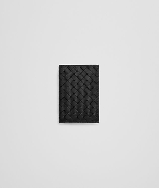 BOTTEGA VENETA CARD CASE IN NERO INTRECCIATO VN Card Case Man fp